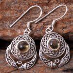Citrine-Gemstone-Sterling-Silver-Claddagh-Drop-Earrings-for-Women-and-Girls-Bezel-Set-Ear-Wire-Earrings-Yellow-Bridesm-B08K648TKB-2