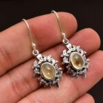 Citrine-Gemstone-Sterling-Silver-Dangle-Earrings-for-Women-and-Girls-Bezel-Set-Ear-Wire-Earrings-Yellow-Bridesmaid-Ear-B08K652N2Q