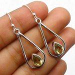 Citrine-Gemstone-Sterling-Silver-Drop-Earrings-for-Women-and-Girls-Bezel-Set-Ear-Wire-Earrings-Green-Bridesmaid-Earrin-B08K61WKJ1