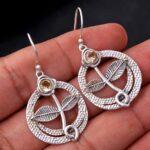 Citrine-Gemstone-Sterling-Silver-Leaf-Drop-Earrings-for-Women-and-Girls-Bezel-Set-Ear-Wire-Earrings-Yellow-Bridesmaid-B08K6195Y8