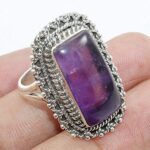 Classic-Amethyst-925-Sterling-Silver-Cocktail-Ring-Jewelry-B07QM9SCL2