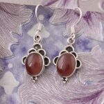 Color-Gemstone-Silver-Earrings-for-Women-Dangle-Earrings-Oval-Red-Onyx-Earrings-Drop-Earrings-B07S358QMV