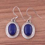 Color-Gemstone-Silver-Earrings-for-Women-Drop-Earrings-Oval-Lapis-Lazuli-Earring-Dangle-Earrings-B07SRYQB4V
