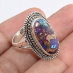 Copper-Turquoise-Gemstone-925-Sterling-Silver-Rings-Handmade-Jewelry-B07L2VJ2V7