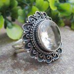 Crystal-Quartz-Gemstone-925-Sterling-Silver-Ring-Handmade-Jewelry-B07L2KNNHQ