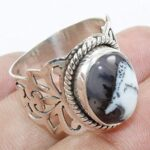 Dendritic-Opal-925-Sterling-Silver-Filigree-Ring-for-Womens-B07L2VJBWG