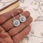 Drop-Earrings-Dangle-Earrings-Sterling-Silver-Earrings-for-Summer-Gift-Round-Rainbow-Moonstone-Earrings-B07RZYLBRX