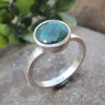 Emerald-925-Sterling-Silver-Ring-Gemstone-Jewelry-B07QM9SCL3