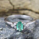 Emerald-Diamond-925-Sterling-Silver-Engagement-Ring-B07L2W5B2L