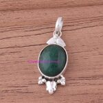 Emerald-Pendant-925-Sterling-Silver-Pendants-for-Womens-Oval-Gemstone-Pendants-Handmade-May-Birthstone-Pendants-B07V7Y2QW8