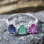 Emerald-Ruby-Sapphire-Diamond-Sterling-Silver-Ring-B07L2VBLVX