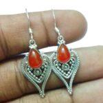 Fashion-Carnelian-Gemstone-925-Silver-Earrings-B07JDSZ89V