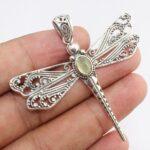 Garnet-Dragonfly-Two-Tone-925-Sterling-Silver-Pendant-B07JHCTBXX-8