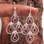 Garnet-Gemstone-Sterling-Silver-Chandelier-Earrings-for-Women-and-Girls-Bezel-Set-Ear-Wire-Earrings-Red-Bridesmaid-Ear-B08K612DGF