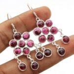Garnet-Gemstone-Sterling-Silver-Chandelier-Earrings-for-Women-and-Girls-Bezel-Set-Ear-Wire-Earrings-Red-Bridesmaid-Ear-B08K61J4SR-2