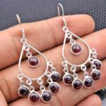 Garnet-Gemstone-Sterling-Silver-Chandelier-Earrings-for-Women-and-Girls-Bezel-Set-Ear-Wire-Earrings-Red-Bridesmaid-Ear-B08K63PY2L