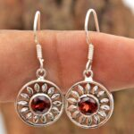 Garnet-Gemstone-Sterling-Silver-Dangle-Earrings-for-Women-and-Girls-Bezel-Set-Ear-Wire-Earrings-Red-Bridesmaid-Earring-B08K5YJ5NV