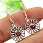Garnet-Gemstone-Sterling-Silver-Dangle-Earrings-for-Women-and-Girls-Bezel-Set-Ear-Wire-Earrings-Red-Bridesmaid-Earring-B08K5YJ5NV-2