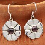 Garnet-Gemstone-Sterling-Silver-Dangle-Earrings-for-Women-and-Girls-Bezel-Set-Ear-Wire-Earrings-Red-Bridesmaid-Earring-B08K65BJW7-2