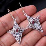 Garnet-Gemstone-Sterling-Silver-Dragonfly-Drop-Earrings-for-Women-and-Girls-Bezel-Set-Ear-Wire-Earrings-Red-Bridesmaid-B08K5YHLVM