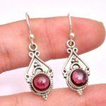 Garnet-Gemstone-Sterling-Silver-Drop-Earrings-for-Women-and-Girls-Bezel-Set-Ear-Wire-Earrings-Red-Bridesmaid-Earrings-B08K62Z5J8-2