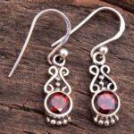 Garnet-Gemstone-Sterling-Silver-Drop-Earrings-for-Women-and-Girls-Bezel-Set-Ear-Wire-Earrings-Red-Bridesmaid-Earrings-B08K63VKBH-2