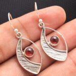 Garnet-Gemstone-Sterling-Silver-Eye-Drop-Earrings-for-Women-and-Girls-Bezel-Set-Ear-Wire-Earrings-Red-Bridesmaid-Earri-B08K62W1HD-2