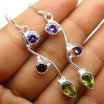 Garnet-Gemstone-Sterling-Silver-Hanging-Drop-Earrings-for-Women-and-Girls-Bezel-Set-Ear-Wire-Earrings-Red-Bridesmaid-E-B08K61CK3F