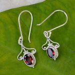 Garnet-Oval-Shaped-Solid-925-Sterling-Silver-Earrings-Handmade-Jewelry-B07J3SBZ2Z-3