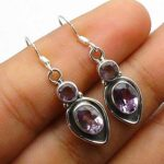 Genuine-Pear-Round-amethyst-Gemstone-Sterling-Silver-Drop-Earrings-for-Women-Bezel-Set-Ear-Wire-Earrings-Purple-Bride-B08HLXKMYP
