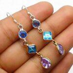 Genuine-Pear-amethyst-Gemstone-Sterling-Silver-3-tier-Drop-Earrings-for-Women-Bezel-Set-Ear-Wire-Earrings-Purple-Bride-B08HLXXR4C