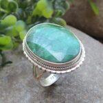 Giant-Emerald-925-Sterling-Silver-Ring-Gemstone-Handmade-Jewelry-B07L2V21QR