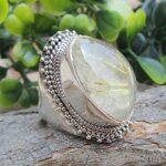 Golden-Rutiliated-Quartz-925-Sterling-Silver-Ring-Handmade-Jewelry-B07L2WQK7L