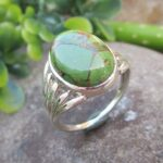Green-Copper-Turquoise-925-Sterling-Silver-Ring-Handmade-Jewelry-B07L2V6816