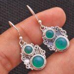 Green-Onyx-Gemstone-Sterling-Silver-Dangle-Earrings-for-Women-and-Girls-Bezel-Set-Ear-Wire-Earrings-Green-Bridesmaid-E-B08K6513LG