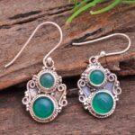 Green-Onyx-Gemstone-Sterling-Silver-Dangle-Earrings-for-Women-and-Girls-Bezel-Set-Ear-Wire-Earrings-Green-Bridesmaid-E-B08K6513LG-2