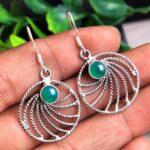 Green-Onyx-Gemstone-Sterling-Silver-Dangle-Earrings-for-Women-and-Girls-Bezel-Set-Ear-Wire-Earrings-Green-Bridesmaid-E-B08K6589P3-2