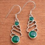 Green-Onyx-Gemstone-Sterling-Silver-Drop-Earrings-for-Women-and-Girls-Bezel-Set-Ear-Wire-Earrings-Green-Bridesmaid-Ear-B08K5ZTK7K-2