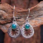 Green-Onyx-Gemstone-Sterling-Silver-Drop-Earrings-for-Women-and-Girls-Bezel-Set-Ear-Wire-Earrings-Green-Bridesmaid-Ear-B08K61GMJN-2