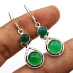 Green-Onyx-Gemstone-Sterling-Silver-Drop-Earrings-for-Women-and-Girls-Bezel-Set-Ear-Wire-Earrings-Green-Bridesmaid-Ear-B08K61HPND
