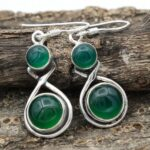 Green-Onyx-Gemstone-Sterling-Silver-Drop-Earrings-for-Women-and-Girls-Bezel-Set-Ear-Wire-Earrings-Green-Bridesmaid-Ear-B08K61HPND-2