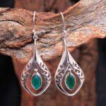 Green-Onyx-Gemstone-Sterling-Silver-Drop-Earrings-for-Women-and-Girls-Bezel-Set-Ear-Wire-Earrings-Green-Bridesmaid-Ear-B08K62ZPZK-2