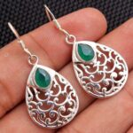 Green-Onyx-Gemstone-Sterling-Silver-Filigree-Drop-Earrings-for-Women-and-Girls-Bezel-Set-Ear-Wire-Earrings-Green-Bride-B08K639314-2