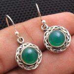 Green-Onyx-Gemstone-Sterling-Silver-Small-Dangle-Earrings-for-Women-and-Girls-Bezel-Set-Ear-Wire-Earrings-Green-Brides-B08K62YJJ9-2