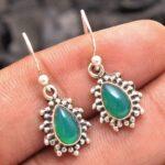 Green-Onyx-Gemstone-Sterling-Silver-Tear-Drop-Earrings-for-Women-and-Girls-Bezel-Set-Ear-Wire-Earrings-Green-Bridesmai-B08K61D229-2