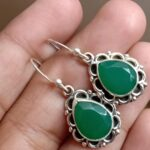 Green-Onyx-Silver-Earrings-Birthstone-Earring-Sterling-Silver-Earrings-Handmade-Earrings-Gemstone-Earrings-Valetine-B07MZCK913-4