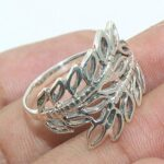 Handcrafted-925-Sterling-Silver-Leaf-Ring-Handmade-Jewelry-B07L2LFRB6