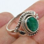 Handcrafted-Emerald-925-Sterling-Silver-Solitaire-Ring-B07L2VP1Y6