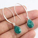 Kanika-Jewelry-Trove-925-Sterling-Silver-Emerald-Teardrop-Earrings-Emerald-Earrings-for-Women-Tiger-Eye-Earrings-Labr-B07K1KM55L