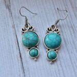 Kanika-Jewelry-Trove-925-Sterling-Silver-Turquoise-Dangle-Earrings-for-Women-2-Tier-Earrings-for-Women-B07K1K8NS4